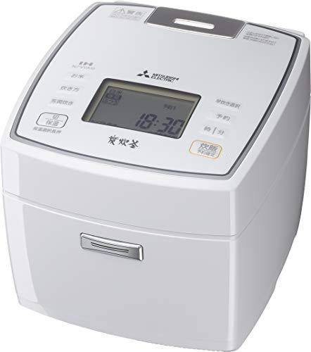三菱電機 IH炊飯器 新生活 日本製 備長炭炭炊釜 5.5合 NJ-VEA10-W