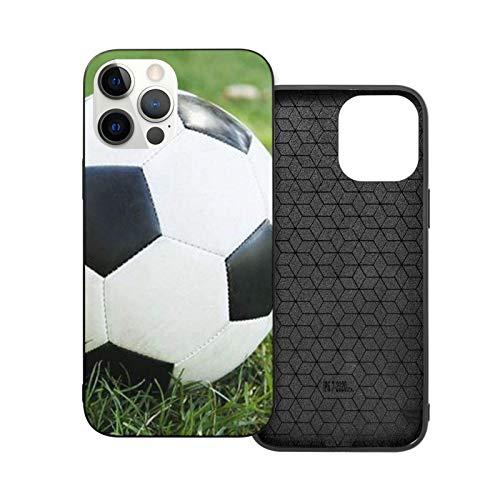 12 Pro Max Case - Funda protectora para hombre y mujer, diseño de pelota de fútbol en Grassy