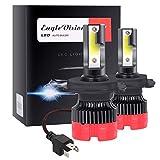 sanlinkee Lampadina H4 LED, 12000LM Auto Fari Conversione Kit Sostituzione per Alogena Lampade e Xenon Luci Fari Abbaglianti o Anabbaglianti per Auto Kit, 60W 6000K Bianco, 2 Pezzi