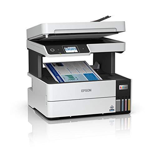 EcoTank ET-5170   Impresora Alto Rendimiento WiFi A4 Multifunción con Impresión Doble Cara Automática   Imprime/Escáner/Copiadora/Fax