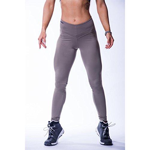 Nebbia Beautiful Inside and Out 604 - Mallas de cintura alta para mujer, talla L, color marrón