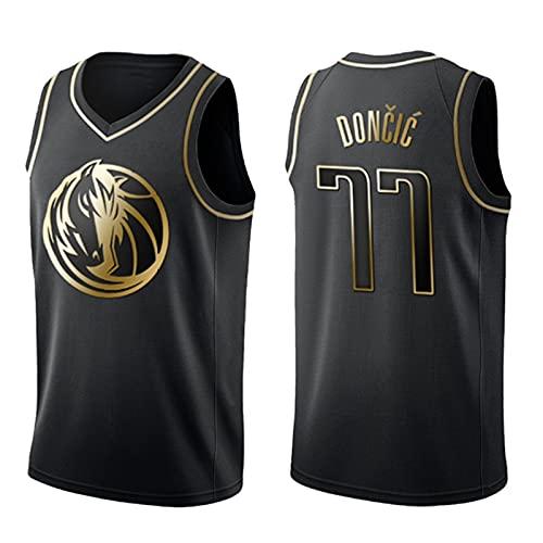 TINKOU Camiseta de Baloncesto de la NBA de Verano, Camiseta de Swingman de Baloncesto 77#, Chaleco de Ocio al Aire Libre de Tela