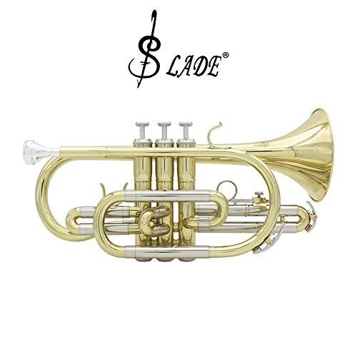 XuBa SL-ADE Professional Bb Cornet Brass Instrument mit Handschuhen und Putztuchbürsten