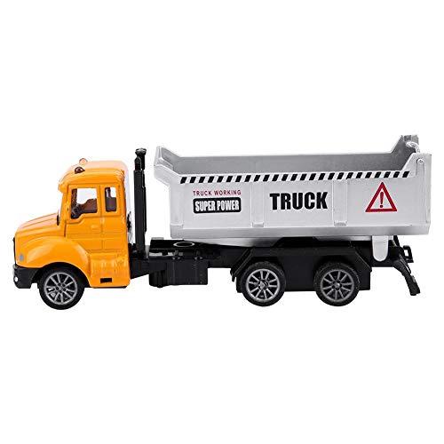 Dilwe Engineering Truck Spielzeug, 1/64 Scale Engineering Pull-Back Fahrzeug Simulation Modell Auto Spielzeug Geschenk für Kinder( Muldenkipper)