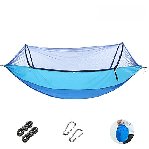 CAIMO Hamaca de camping con mosquitera, portátil y ligera, para actividades al aire libre, supervivencia, para colgar, fácil de montar