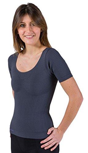 CzSalus Thermal Slimming Woman Vest Anti Cellulite in Emana® BioFIR Garn, Damen, Graphitgrau, L