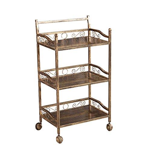 Drie vloeren antieke schoonheid trolley openwork carving stalen frame gereedschapswagen belasting 100 kg