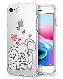 Caler - Carcasa compatible / repuesto para iPhone 7, transparente, fina,...