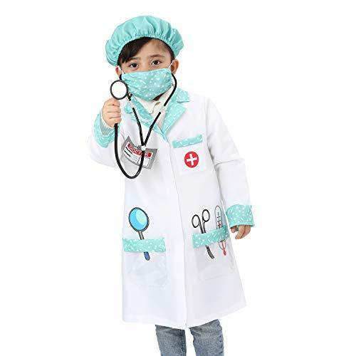 Sincere Party Disfraz de juego de rol de mdico unisex para nios Disfraz de doctor Disfraz de juego de estilo A 3-5 aos