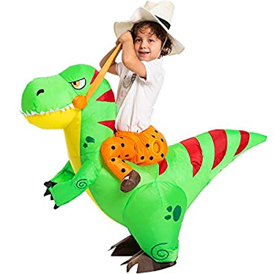Spooktacular Creations Halloween Inflatable Costume Ride a T-rex Dinosaur Air Blow-up Deluxe Halloween Costume - Child (4-6 Yrs) by Joyin Inc