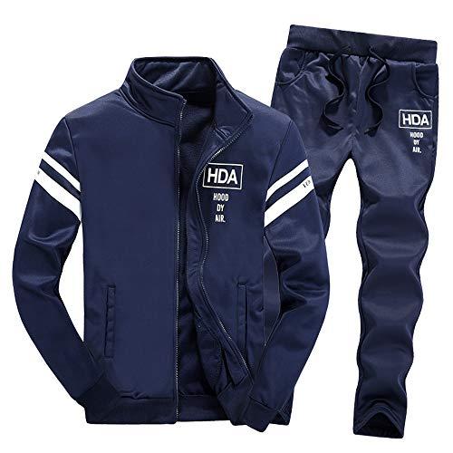 Herren Männer Hose Tops Hosen Sets Trainingsanzug FRAUIT Langarm Reißverschluss Sweatshirt Mode Design Sport Jacke Freizeit Warm Bequem Hose Jeans Jeanshose Pants M-4XL
