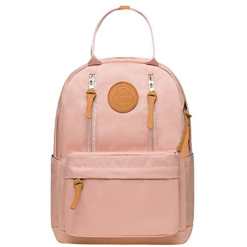 KAUKKO Unisex Schulrucksack mit Laptopfach für 10 Zoll Notebook, Multifunktion Rucksack für Wandern Reisen Camping 13.2 L (Pink JNL-KS06)