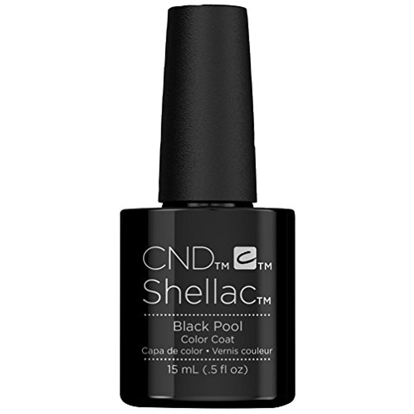 雲中国統計的CND Shellac - Limited Edition! - Black Pool - 15ml / 0.5oz