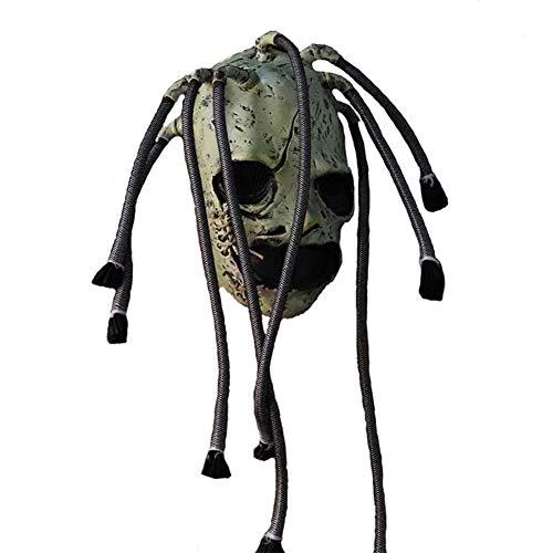 decaden Halloween Latex Maske,Slipknot Ungiftig Horror,Slipknot Mask Horror Latex Grimasse Baum Maske Realistische Cosplay Requisiten Für Halloween