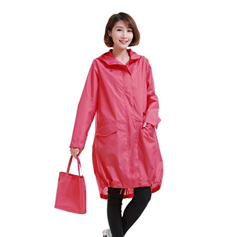 レインコートの女性の屋外のポータブルロング防水ポンチョ