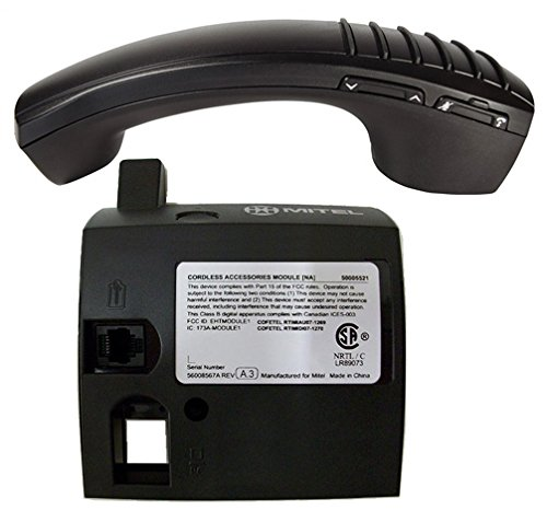 Mitel Cordless Handset and DECT Module Bundle, 50005711 | Mitel 5330e, 5340e and 5360e phones | Includes all accessories