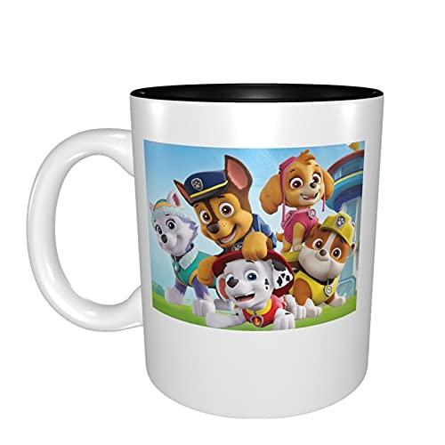 Taza de cerámica con diseño de Patrulla Canina, taza de leche y café, taza divertida con regalos para bodas, cumpleaños, vacaciones, para mujeres, niñas, amantes, amigos, madre, niños, 330 ml