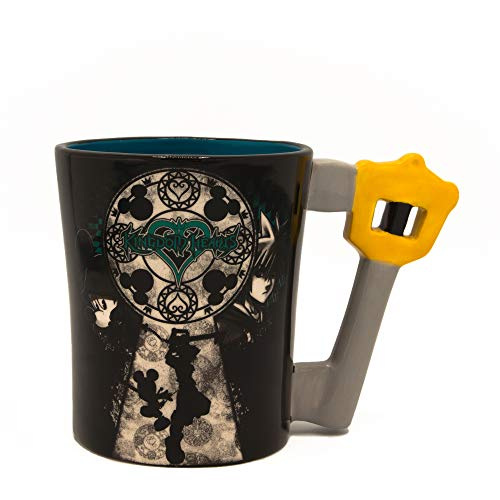 Silver Buffalo KH12043D Disney Kingdom Hearts Mickey and Sora Taza de cerámica con forma de 3D, 20…
