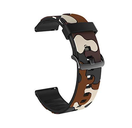 LRJBFC Reloj de Silicona Colorido para Huawei Honor Magic Watch 2 46mm 42mm Correa 20 / 22mm Pulsera del Deporte para Huawei Honor Magic Belt para Samsung Galaxy Watch Active2 40mm 44mm