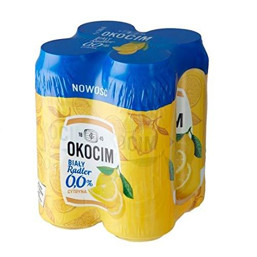 GroßhandelPL Bier Okocim Radler Weiß Zitrone 0% 6er Pack x 4 Dose (24x 500ml)