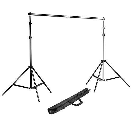 Neewer Kit di Sfondo Stand Sistema di Supporto da 200 cm per Video, Ritratto, e Prodotti Fotografici con Borsa da trasporto