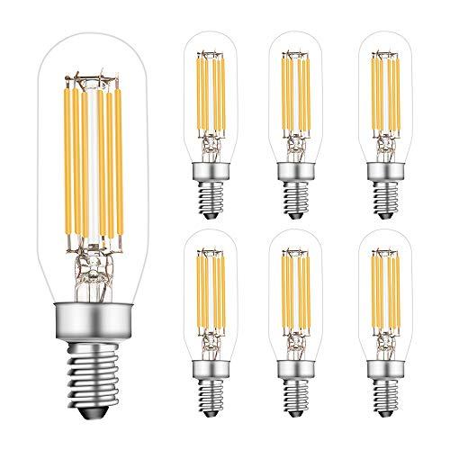 Bombillas LED E12 regulables, 6 W igual a 60 W, bombillas incandescentes de candelabro, blanco cálido 2700 K, bombillas E12 Edison,...