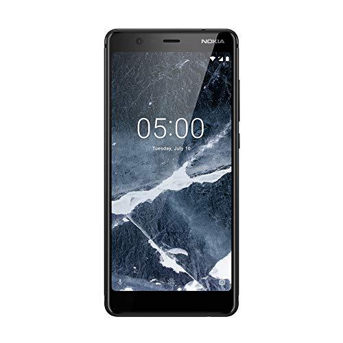 Nokia 5.1 Version 2018 Smartphone (13,97 cm (5,5 Zoll) HD+ Dislplay, 32GB, 2GB RAM, 16MP Kamera, langlebiger Vollalurahmen, Android Oreo, Dual SIM) schwarz
