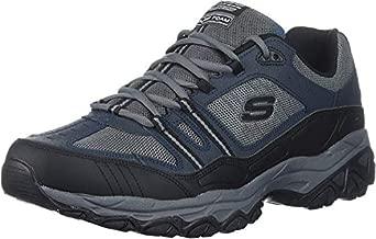 Skechers Sport Men's Afterburn Strike Memory Foam Lace-Up Sneaker,Navy/Gray,11 4E US