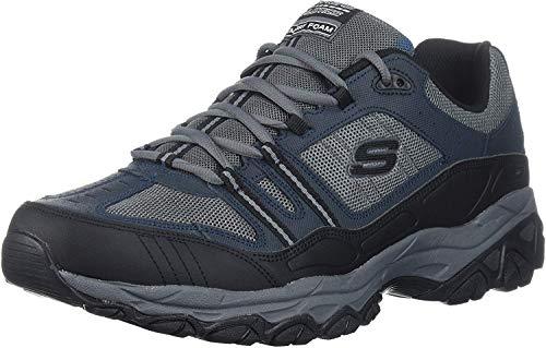 Skechers Sport Men's Afterburn Strike Memory Foam Lace-Up Sneaker,Navy/Gray,8 M US