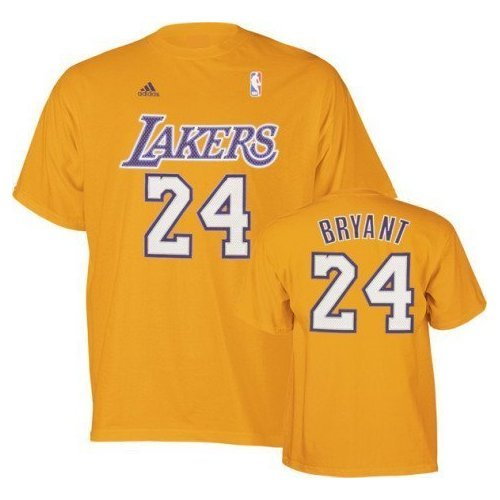 13a9f390e4d1 Kobe Bryant Los Angeles Lakers Yellow Name and Number T-Shirt