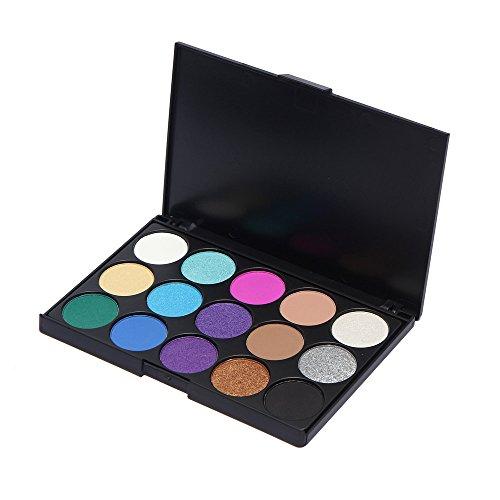 Palette Ombretti, Ruwhere 15 Colori Eyeshadow Palette Neutri Caldi Corredo di Trucco Tavolozza per Trucco Occhi Waterproof Makeup Eyeshadow Kit - Adattabile a Uso Professionale che Privato