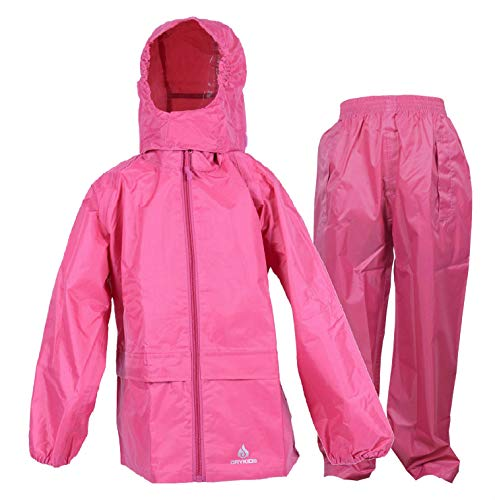 Dry Kids wasserdichte Anzug - Rosa - 11/12 Jahre