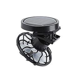 Idea Regalo - freneci Vivavoce Clip su Cappello Ventilatore Solare da Campeggio Energia Solare Portatile