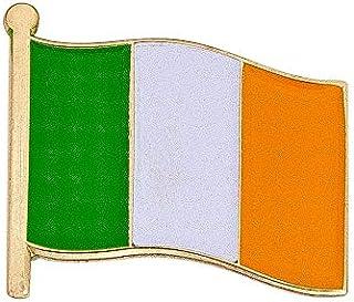 Ireland Country Enamel Made of Metal Souvenir Hat Men Women Patriotic Irish (Waving Flag Lapel Pin)