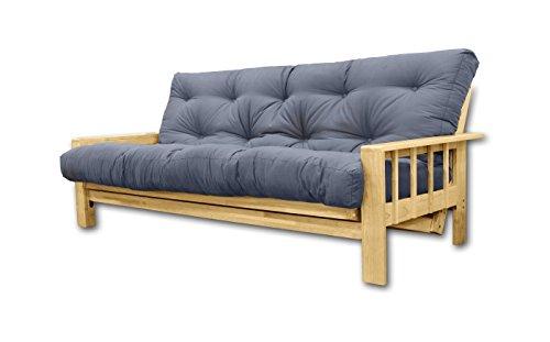Sofá Cama Vienna, futon Gris, 207x100x30 cm