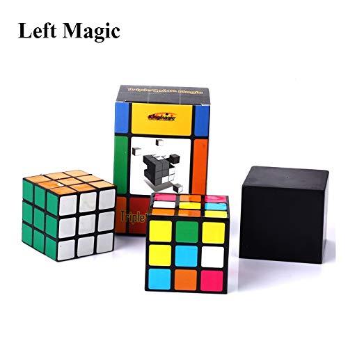 AIYASIWEI Kits de Magia increíble Trucos Triple Diko- Cubo mágico Magia Irelia Conjunto ilusión Cubo mágico desaparece Cerrar la Calle hasta la Etapa apoyos mágicos Truco