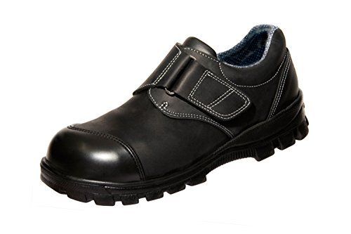 Euro-Dan Walki Soft Schuhe, Klettverschluss, mit Euro-Tex Membran S3+SRC, Schwarz, 51 EU