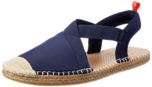 Sea Star Beachwear Women's Neoprene Seafarer Slingback Sandal, Water-Friendly and Quick Drying Dark Navy 9