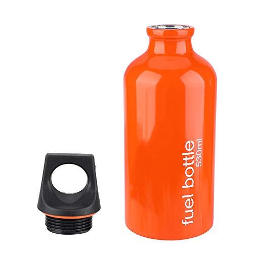 VGEBY Botella de Almacenamiento de Combustible, contenedor de Gasolina a Prueba de Fugas, aleación de Aluminio para Senderismo, cocción y Picnic