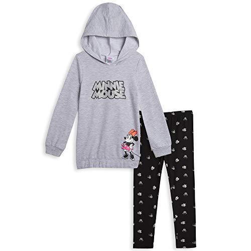 Disney Minnie Mouse Toddler Girls Pullover Hooded Legging Set Black/Gray 4T
