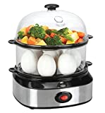 Egg Cooker Electric,14 Eggs Capacity Egg Boiler for Soft, Medium,Hard Boiled Eggs, Poached Eggs, Scrambled Eggs with Auto Shut Off