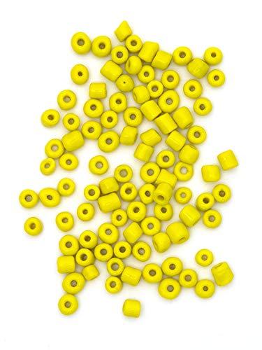 Cousin DIY Glass E Beads, Yellow