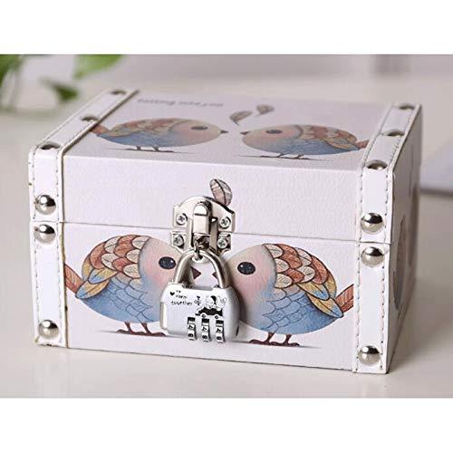 GAONAN Caja de Almacenamiento de exhibición de Joyas para Mujer, Caja de Almacenamiento de joyería de Cuero Organizador, para Pendiente Anillo y Pulsera Caja de Almacenamiento de Joyas (Color : A)