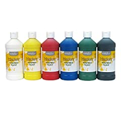 Blendable formula mixes with other colors for unique creations Opaque colors will not chip, flake or crack when dry for lasting appearance Easy-to-clean formula washes away with soap and water Nontoxic formula is water-based for use by young learners