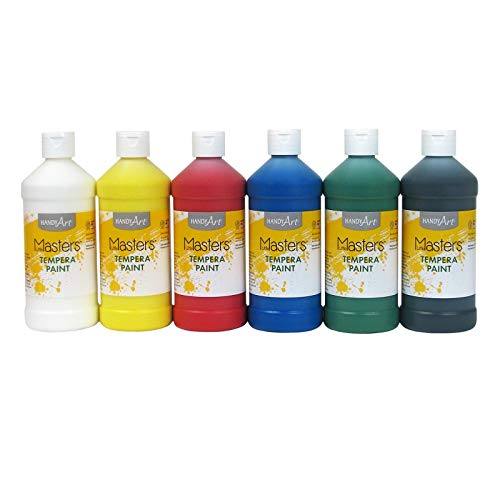 Handy Art Little Masters Tempera Paints Set, 16 oz, Pack of 6 .