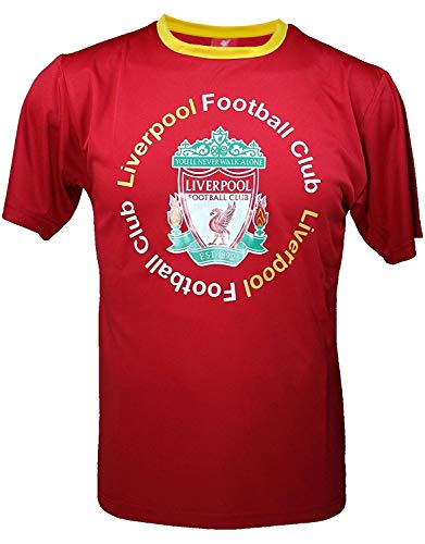 Liverpool F.C. Official Youth Soccer Training Performance Poly Jersey -I009R -YL White