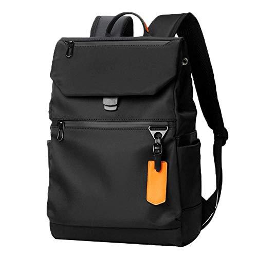 SMSTG Sac à Dos pour Hommes, avec Interface USB Loisirs Voyage Business Computer Bag, Léger Mode Sport Personnalité Étudiant Sac D'école Noir
