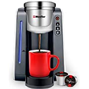 Mueller Ultima Single Serve K-Cup Coffee Maker, Coffee Machine with Five Brew Sizes for Most Single Cup Pods including 1.0 & 2.0 K-Cup Pods, Rapid Brew Technology with Large Removable 45 OZ Water Tank
