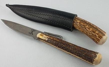 Gamsjaga Damast Taschenmesser Taschenmesser Taschenmesser Schnapperl Feitel Hirschhorn B0063Q3HFA | Grüne, neue Technologie  e03dfa