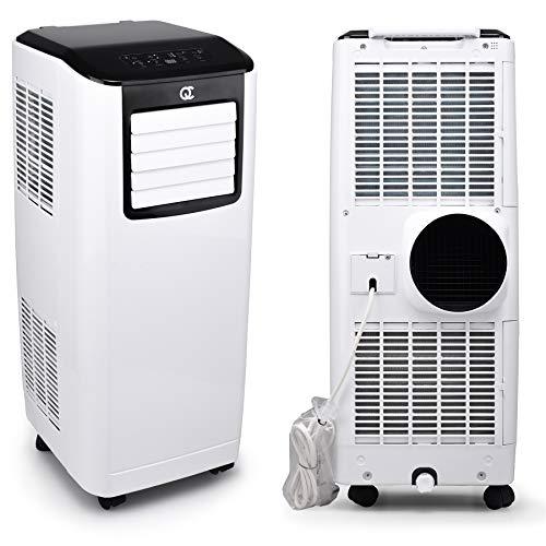 Flinq Smart Mobile Klimaanlage 9.000 BTU mit WiFi, App, Fernbedienung | Mobiles Klimagerät mit Abluftschlauch und Fensterkitt für Räume bis 30qm | Kühlen, Entfeuchten und Lüften | max. 65db